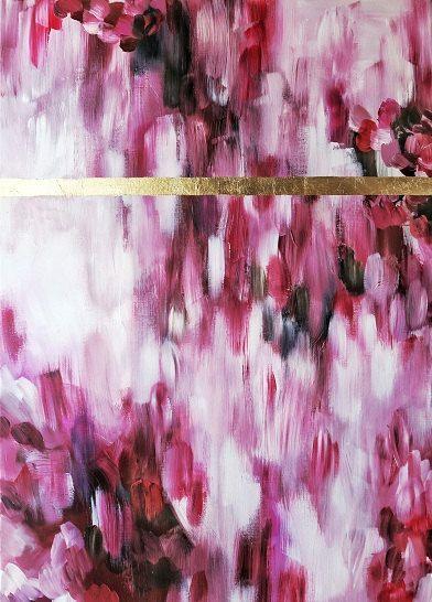 Blattgold  Blattgold-Kunst  Malerei große von creativitywithgold