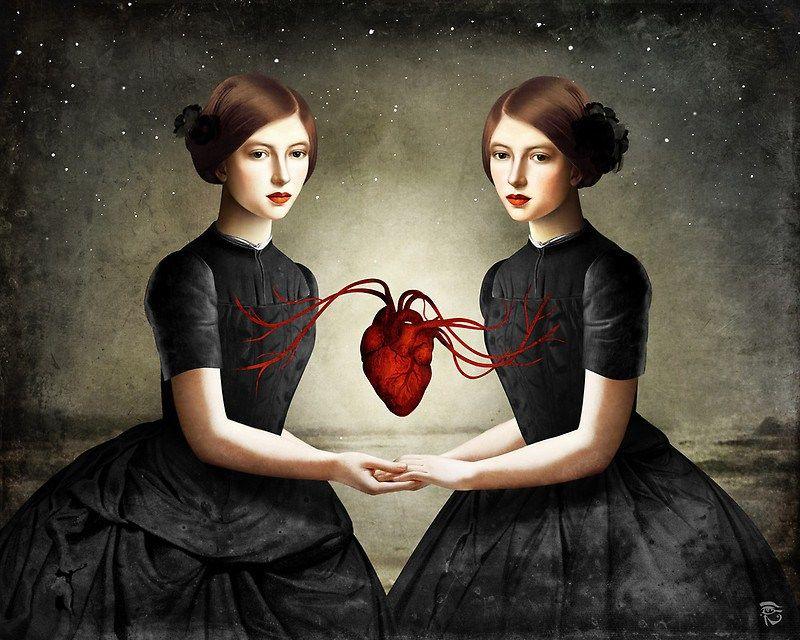 Christian Schloe - Twin Heart - https://society6.com/christianschloe