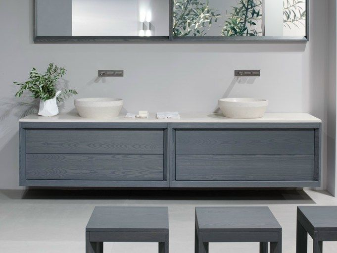 TRAY Double vanity unit by Dogi by GeD Arredamenti design Enzo Berti. TRAY Double vanity unit by Dogi by GeD Arredamenti design Enzo