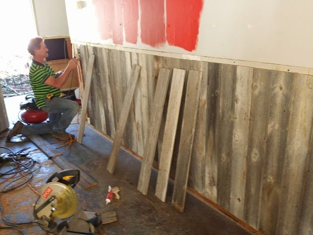 A Bar In Carmel Ca Get A Barn Wood Wainscoting Installed