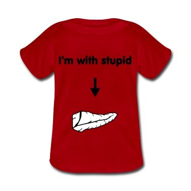 292a30a3 I'm With Stupid T-Shirt | Spreadshirt | ID: 7127369 | Diabetic chick ...