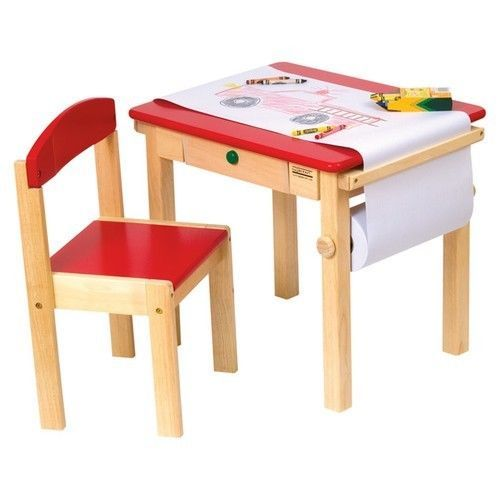 Incroyable Red Kids Art Table Activity Play Chair Desk Craft Playroom Small Child  Drawing #Guidecraft
