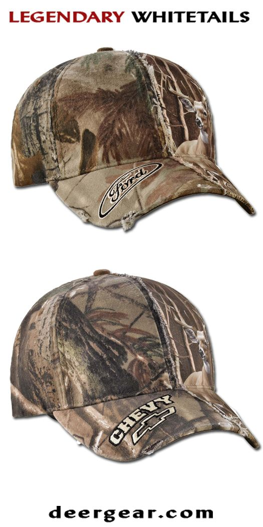 Men's Realtree Camo Adjustable Off Roader Caps  deergear.com #LegendaryWhitetails