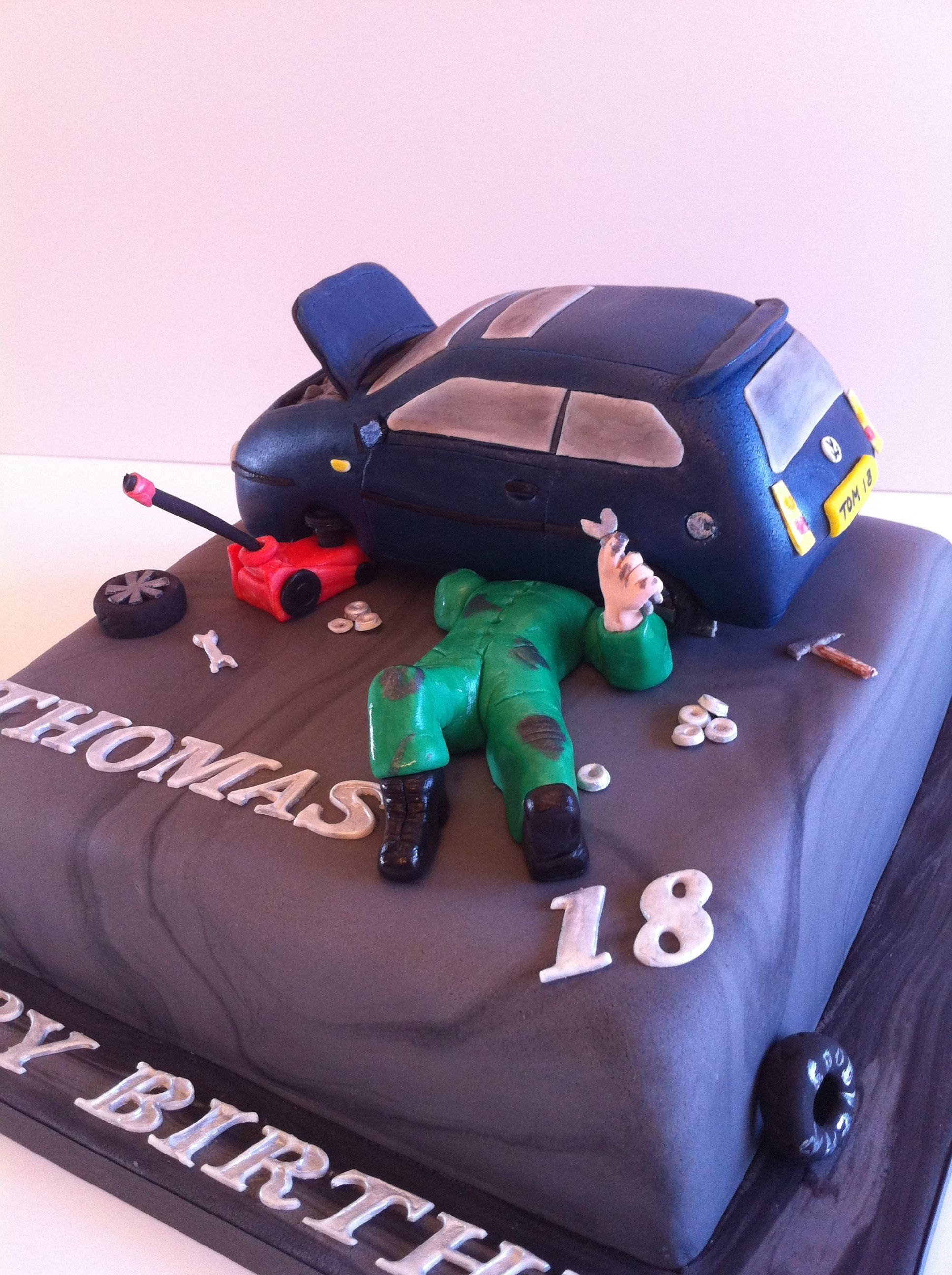 Car Mechanics St Birthday Cake By Femmebrulee Amazing Cakes - Car engine birthday cake