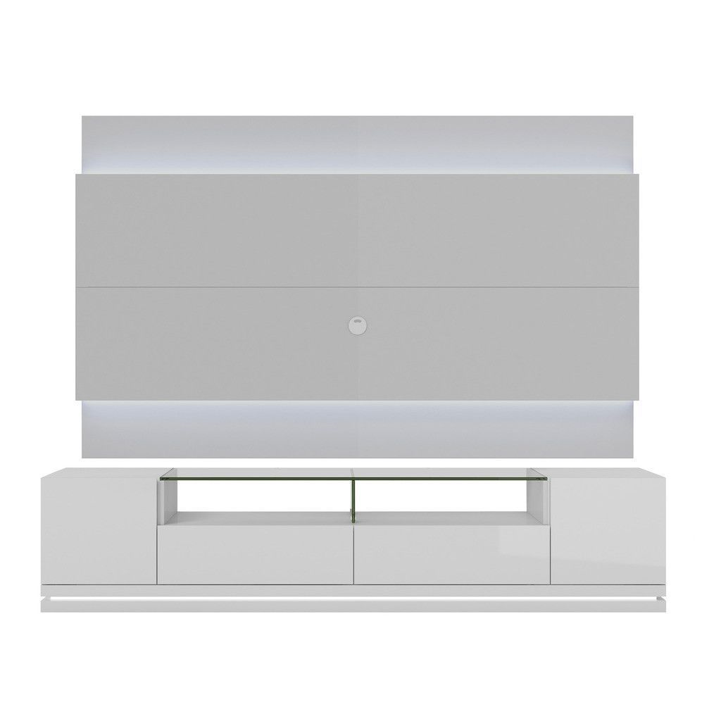 Vanderbilt TV Stand and Lincoln 2.2 Floating Wall TV Panel with LED ...