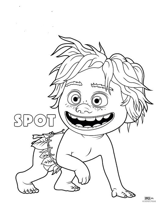 Spot A Caveboy From The Good Dinosaur Coloring Page Category Select 30459 Printable Crafts Of Cartoons Nature Animals