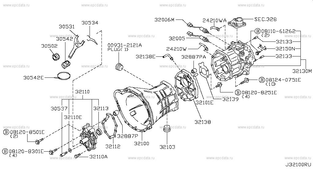 321 Transmission Case Clutch Release For Hardbody D22s Nissan Hardbody Genuine Parts Nissan Hardbody Nissan Transmission