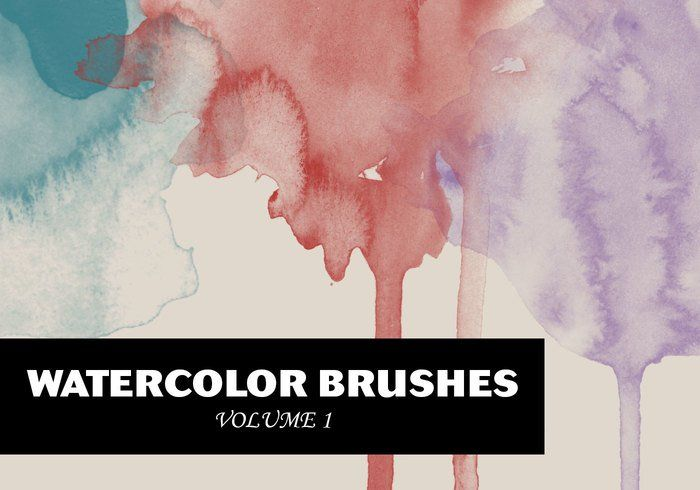 Wg Watercolor Brushes Vol1 Photoshop Brush Set