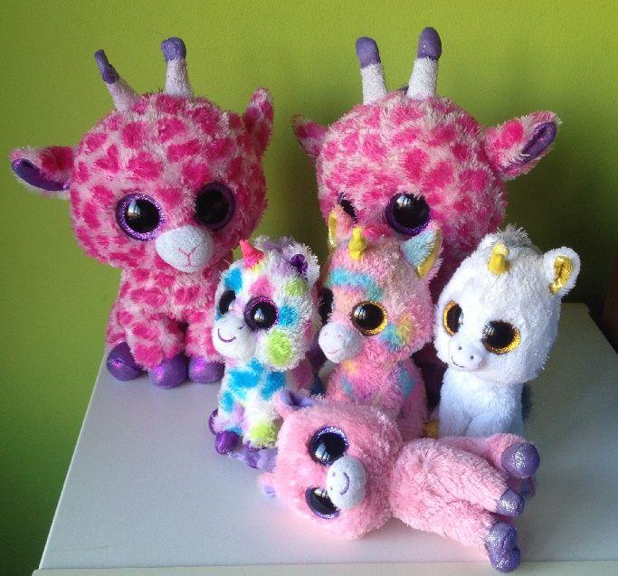 Familie TyBeanie Boo giraf en eenhoorn (J)