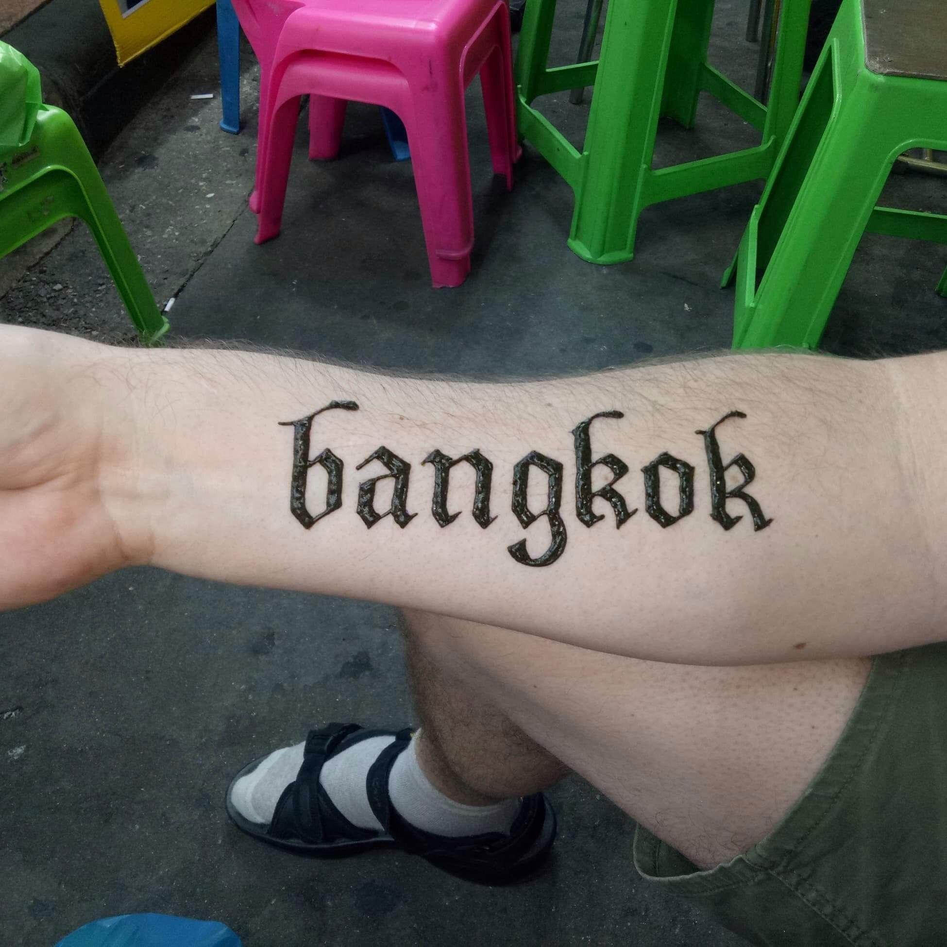 Henna Tattoo In Bangkok