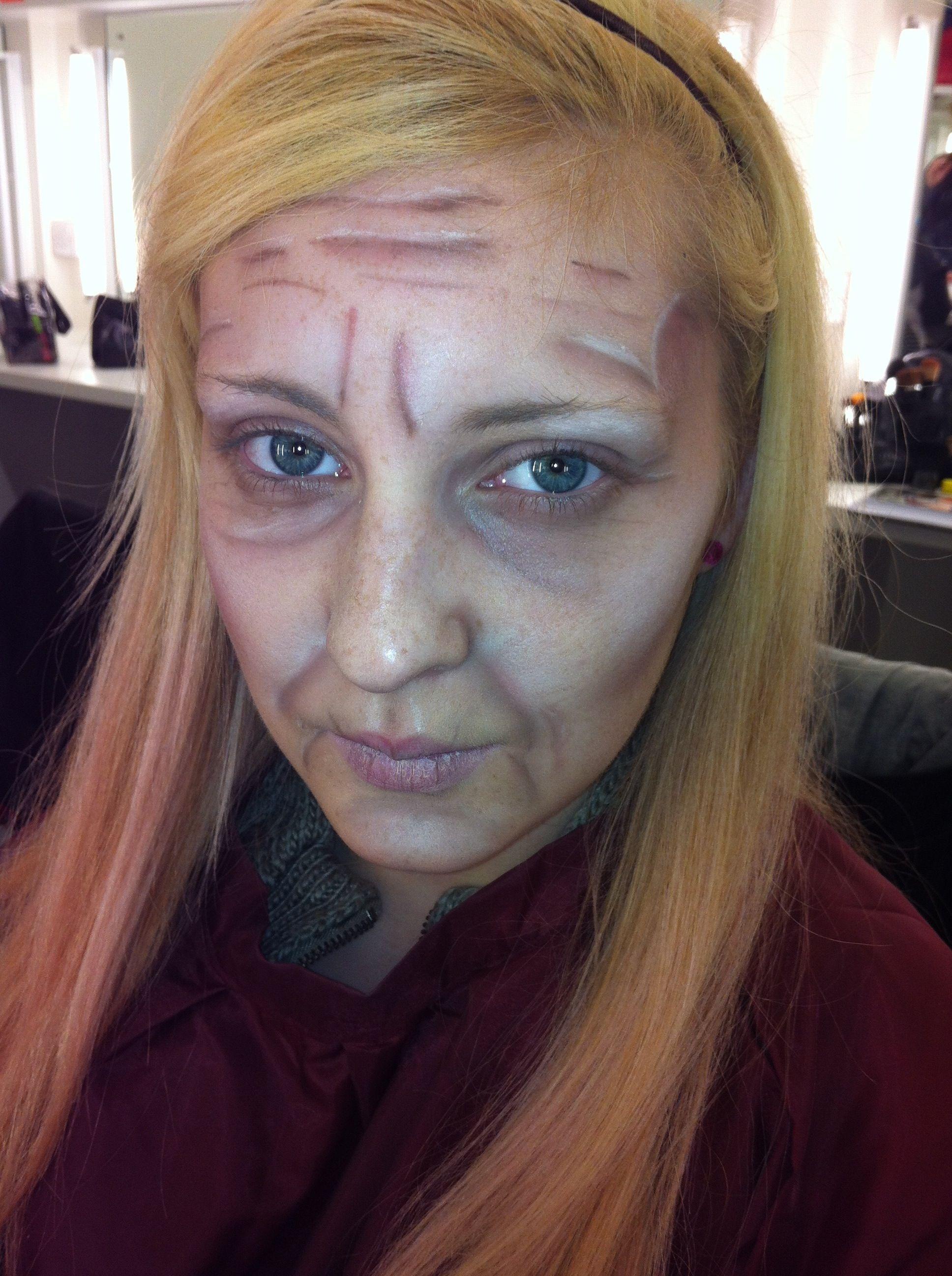 Ageing make up Old age makeup, Makeup class, Makeup