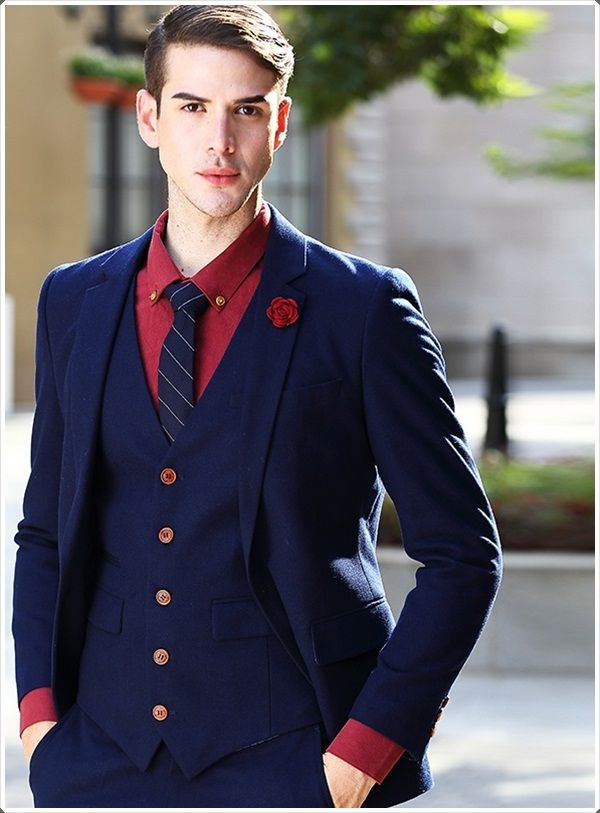100 Best Blue Men's Suits Combinations to Look More Gorgeous | Red ...