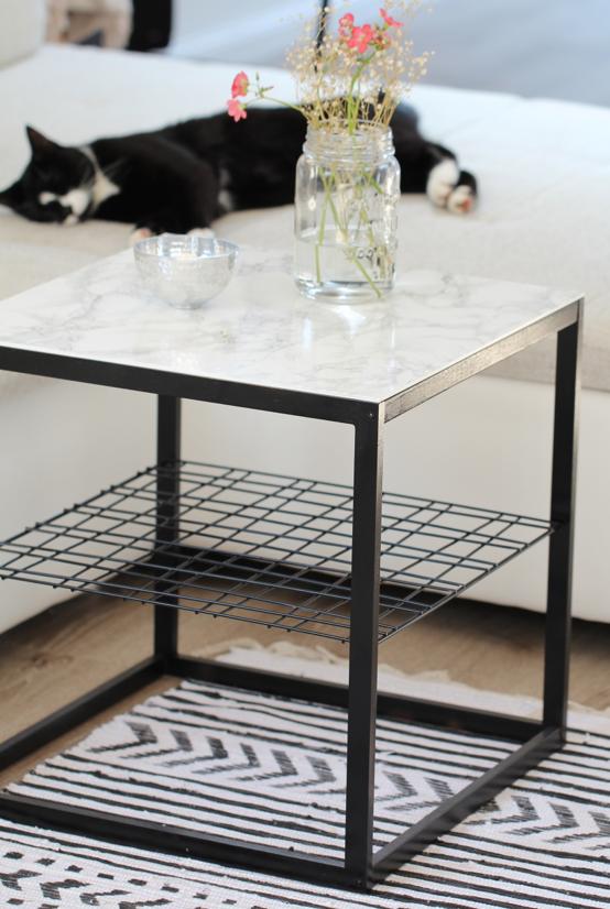 Diy Beistelltisch Mit Marmorplatte Ikea Hack Design Dots Beistelltisch Marmor Beistelltisch Ikea Tisch Hack