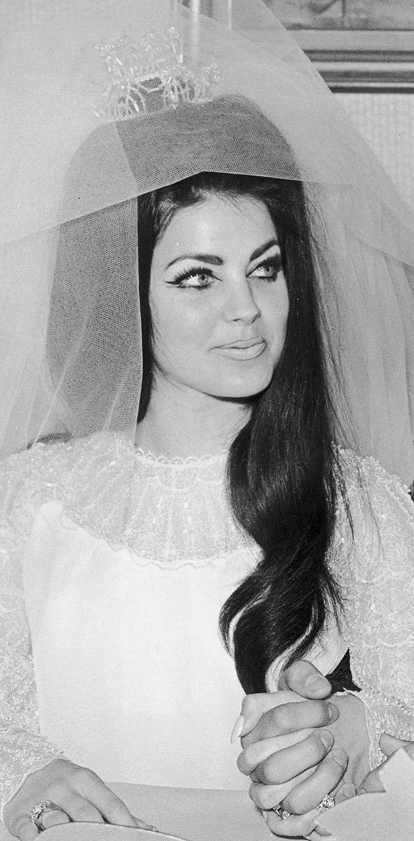 priscilla presley wedding hair