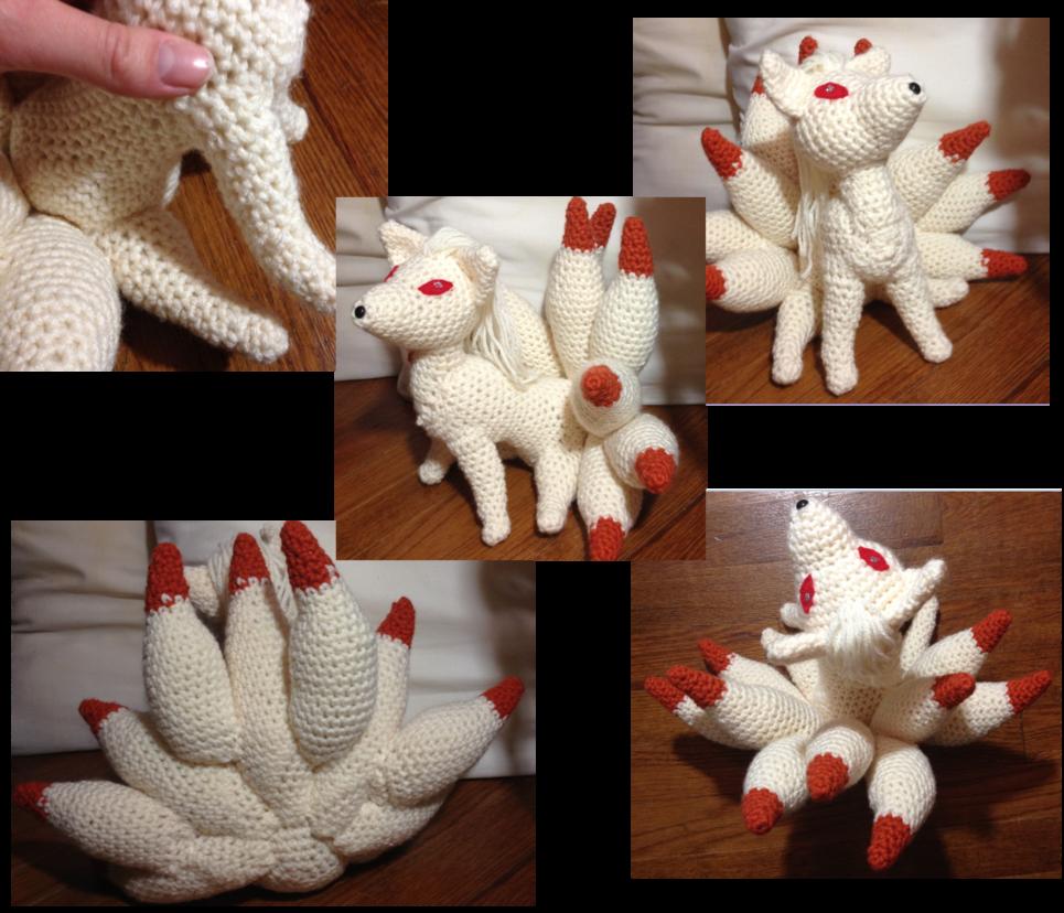 038 ninetales crochet   crochet pokemon   Pinterest