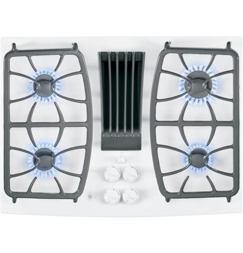 The Ge Gas Downdraft Cooktop Features Glass Covers That Are Attractive And Easy To Clean Making For The Perfect Display And Coo Glass Cooktop Cooking Appliances Kitchen Stove