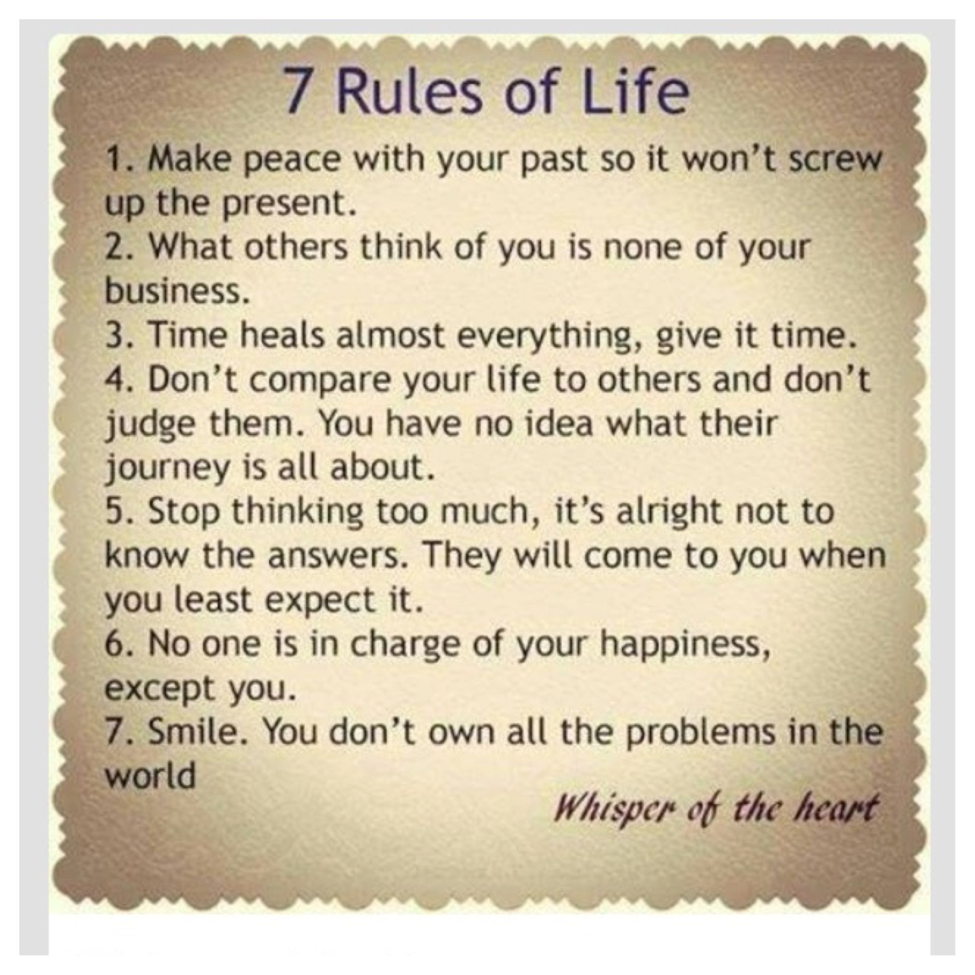 7 Rules Of Life Quote Pinkaren Christensen On Quotes To Live Pinterest  Wisdom