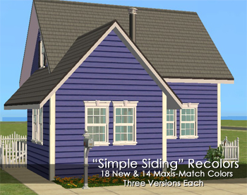 Mod The Sims Lots O Clapboard Siding With Images Clapboard Siding Clapboard Siding Colors For Houses