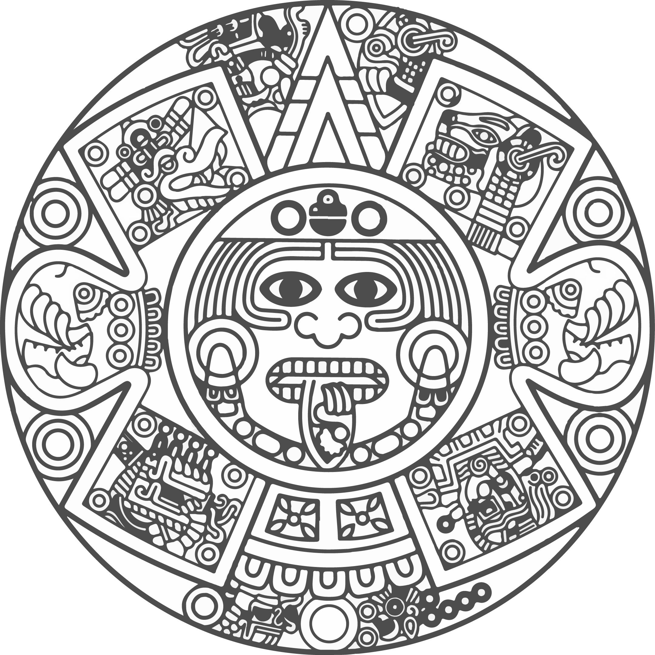 Mayan Calendar Drawing Easy : Ornamento vector png buscar con google tatto