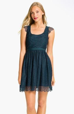 Shoshanna 'risa' Cap Sleeve Chantilly Lace Dress | Nordstrom