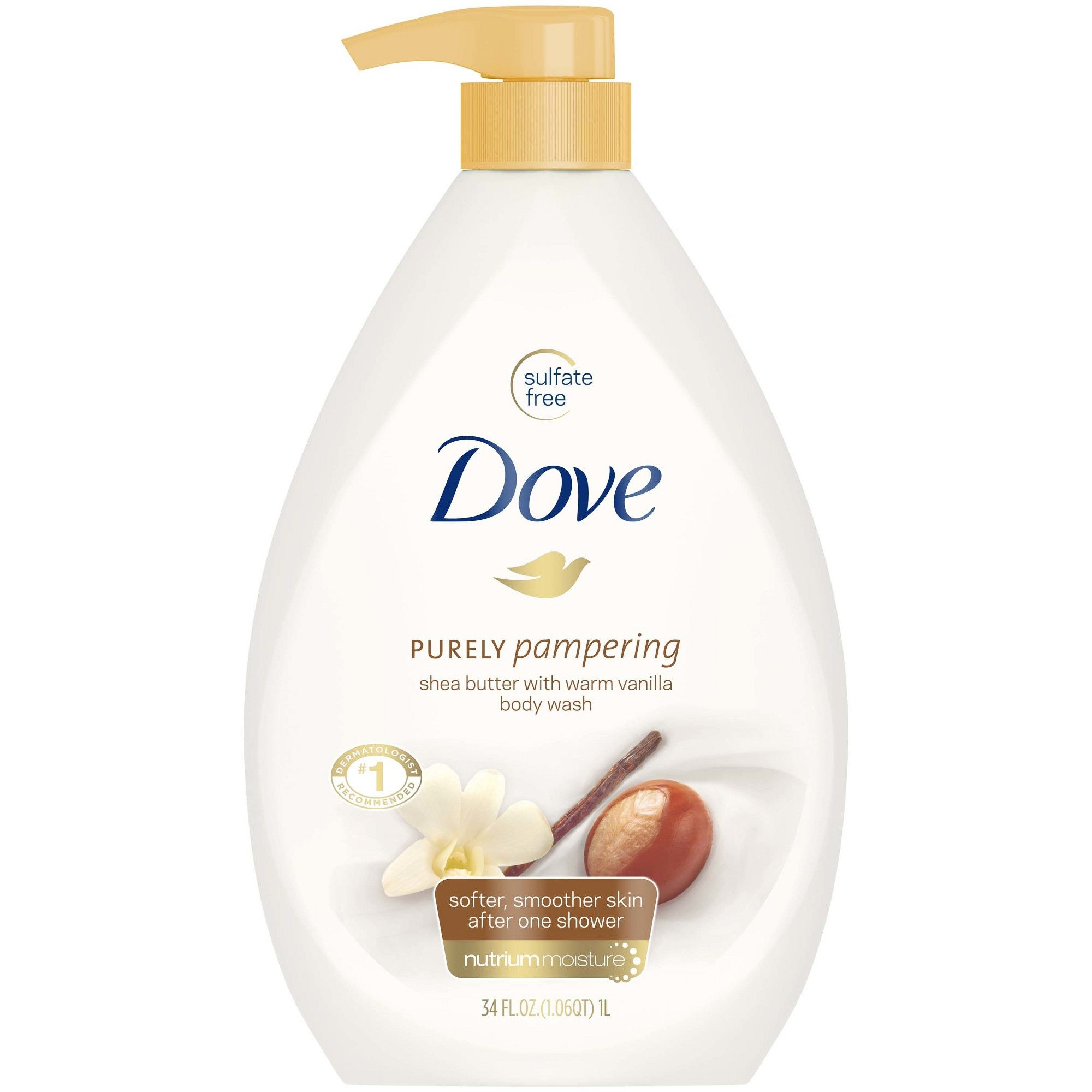 Dove Purely Pampering Shea Butter With Warm Vanilla Body Wash 34