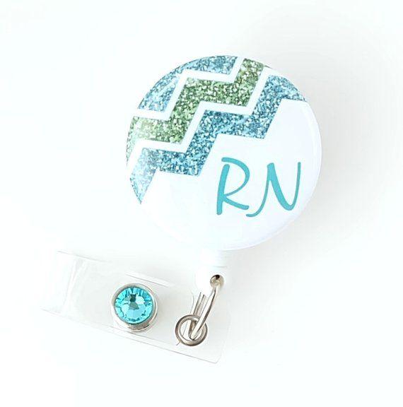 Custom Nurse Retractable Badge Holder Pink Nurse ID Badge Clip Rn Id Badge Staff Gift Personalized Badge Reel