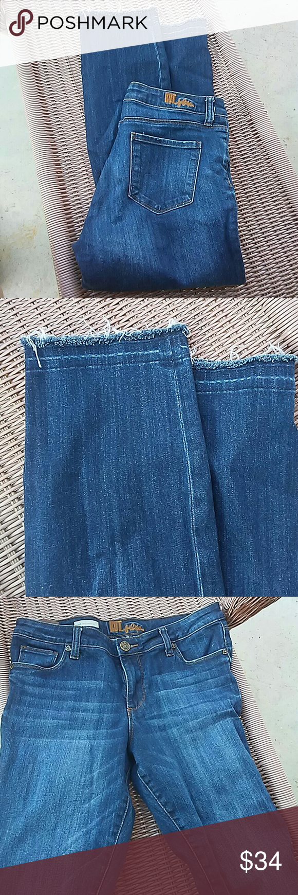 """KUT Emma Ankle. Straight leg. Used condition. Inseam 27"""". Kut from the Kloth Jeans Straight Leg"""