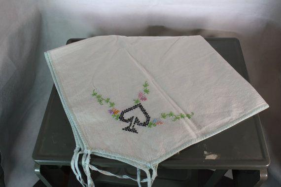 Vintage Flour Sack Card Table Tablecloth By Beguilingvintage, $20.00