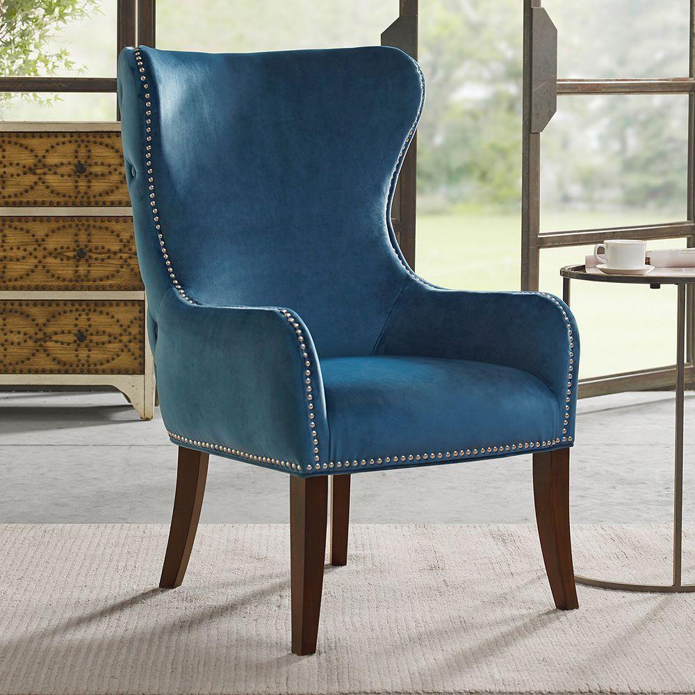 Best Madison Park Irvine Accent Chair Blue Blue Accent 640 x 480