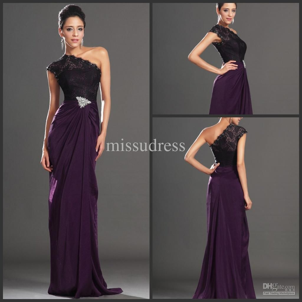 Wholesale western style new one shoulder lace top elegant evening