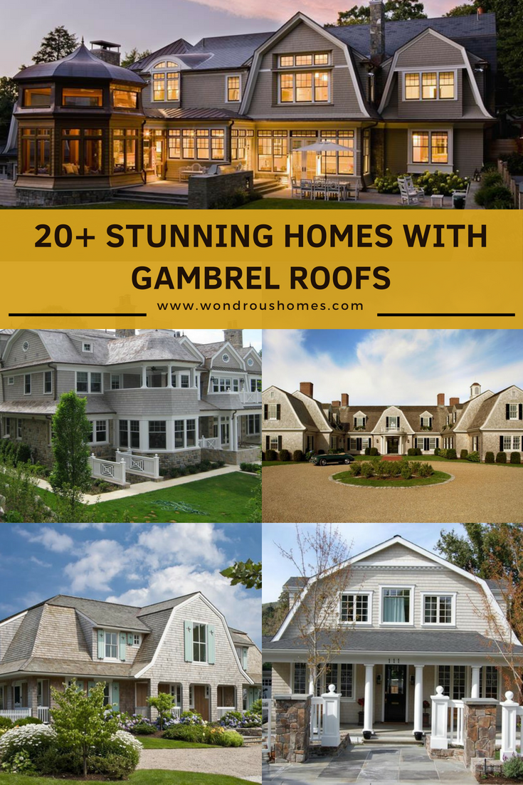 20 Homes With Gambrel Roofs Photo Gallery Gambrel Roof House Designs Exterior Gambrel