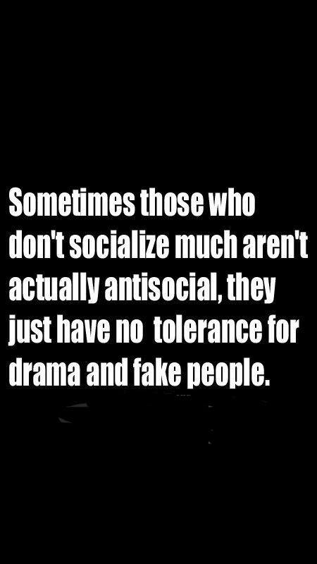 Quotes - Sometimes those who don't socialize much aren't...
