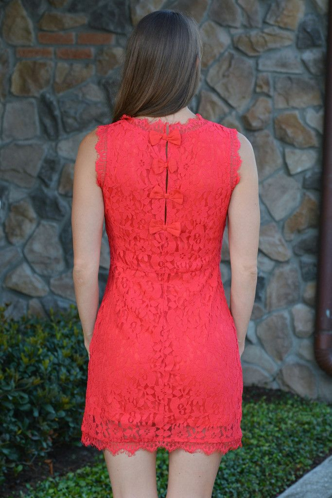 TIME OF MY LIFE Red Lace Bow Dress - Shop Simply Me –boutique – www.SHOPSIMPLYME.com - #ishopsimplyme – Naples, FL