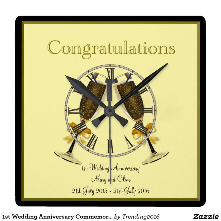1st Wedding Anniversary Commemorative Personalized