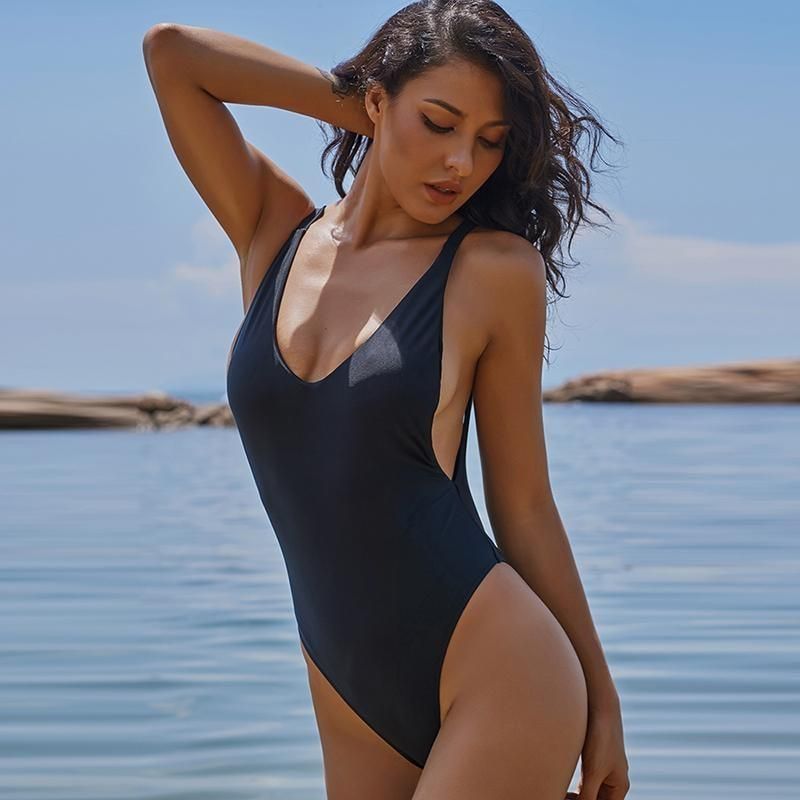 f2e3240f4f Product Description  Buy Spring Summer 2018 Swimwear Trends Women s Simple  Breathable Solid Color Sexy Deep