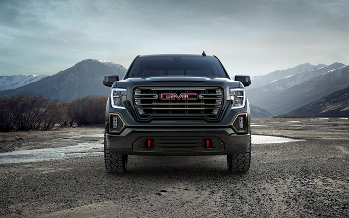 Download Wallpapers Gmc Sierra 2019 At4 Crew Cab Exterior
