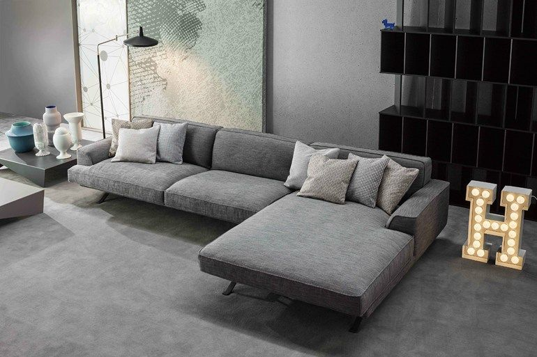 Corner Sofa With Removable Cover With Chaise Longue Slab Sofa With Chaise Longue By Bonaldo Wohnzimmer Couch Couch Leder Wohnzimmer
