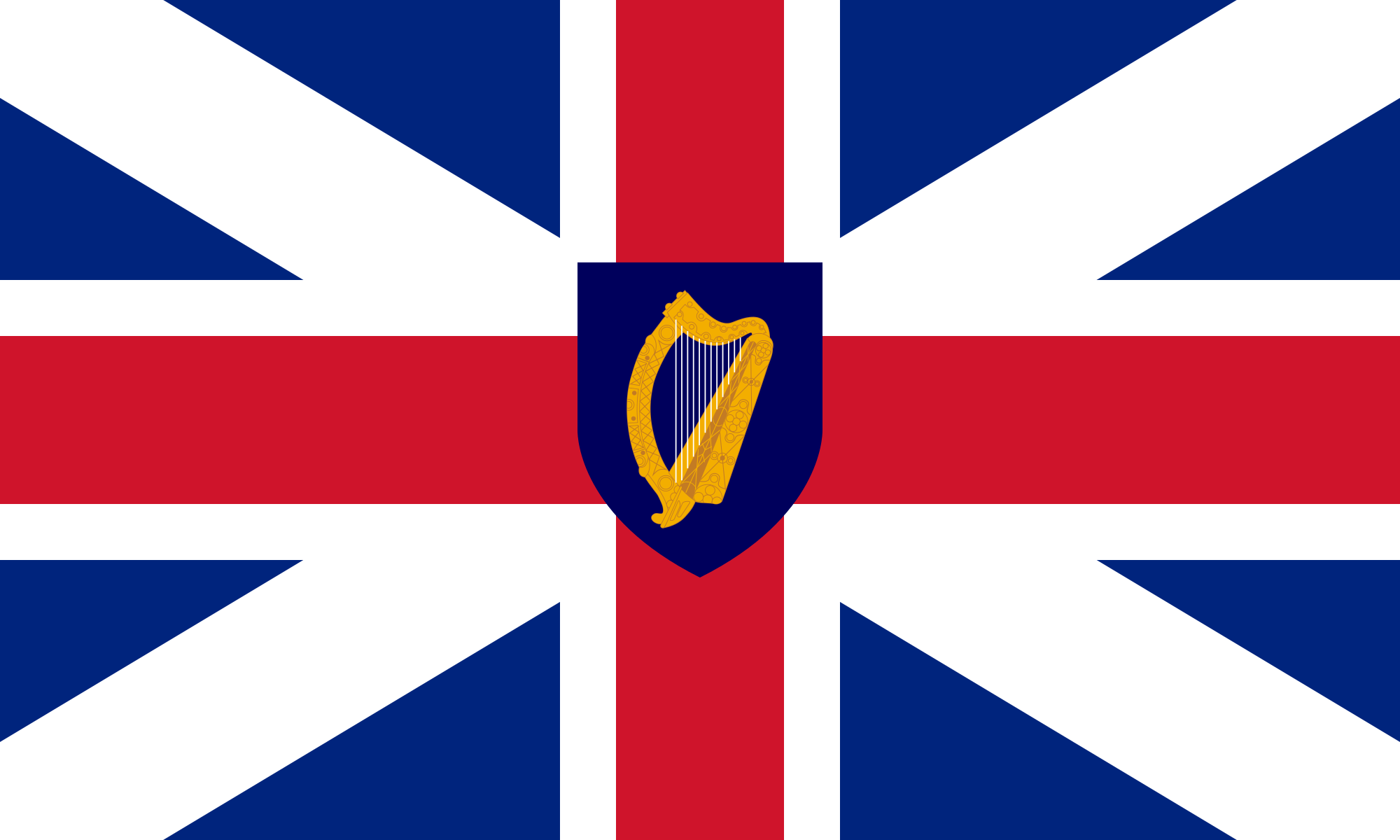 Commonwealth Of England Dark Blue Background Union Jack Flag