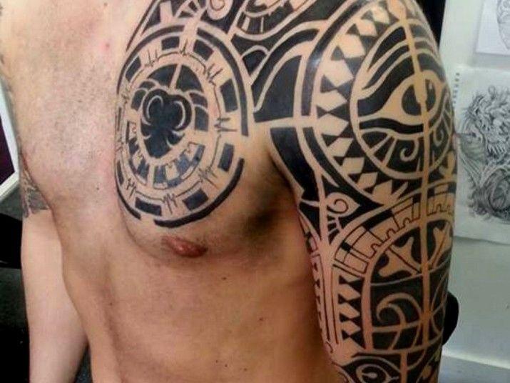 Mexican Tribal Chest Tattoos Best Tattoo Designs Ideas Part 19