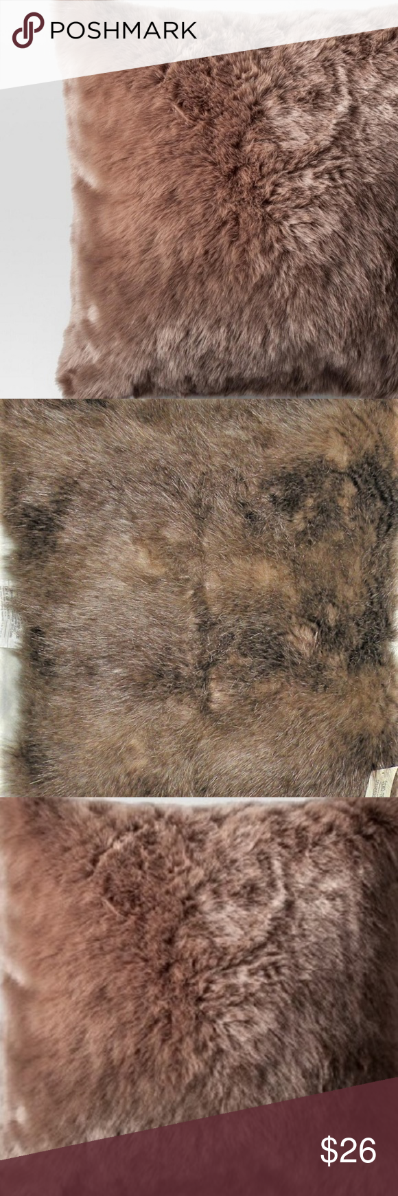 Mongolian Faux Fur Square Throw Pillow Project 62 Project 62 Mongolian Faux Fur ...