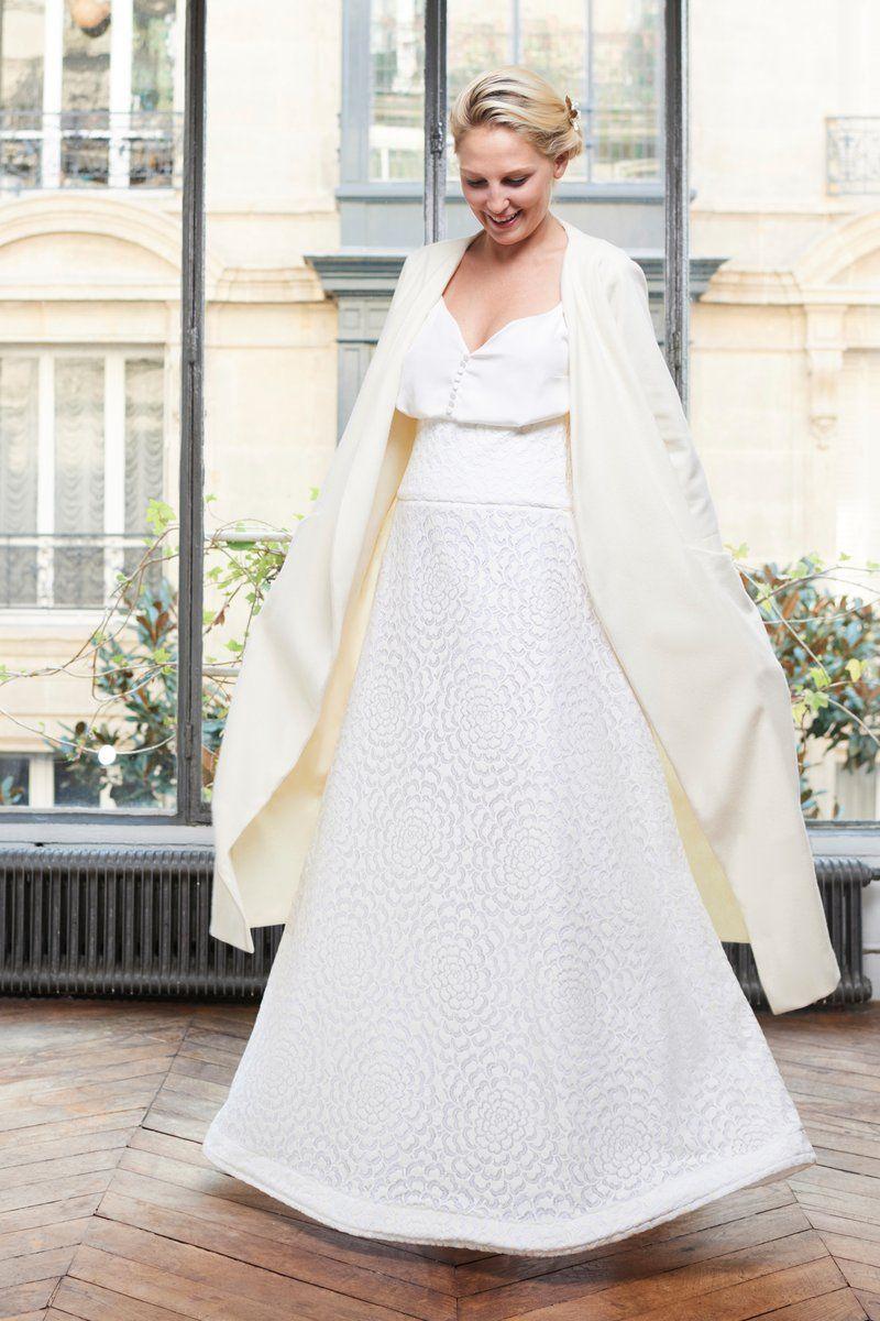 Le Manteau | Robe mariage civil, Idées de