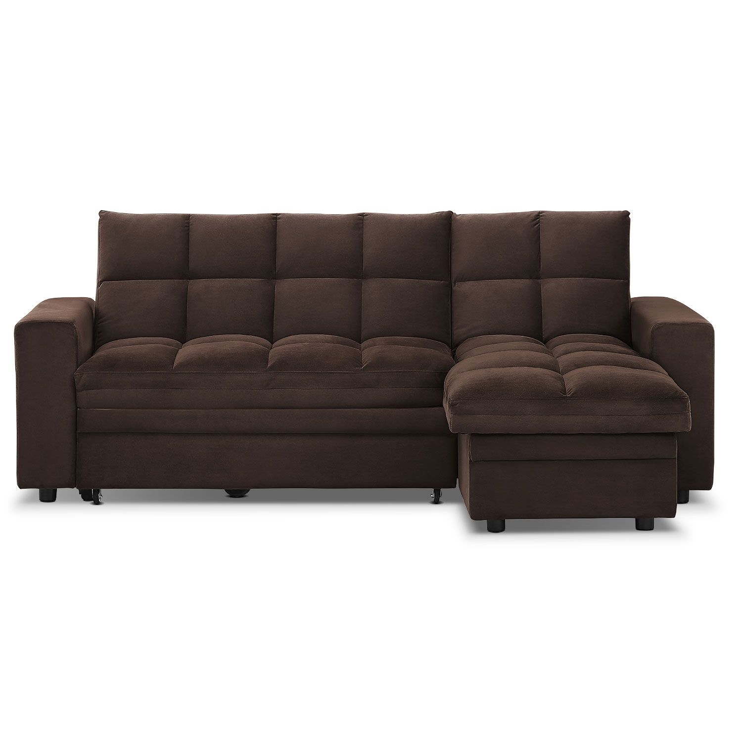 Living Room Furniture - Metro 2 Pc. Chaise Sofa Bed w/ Storage ...