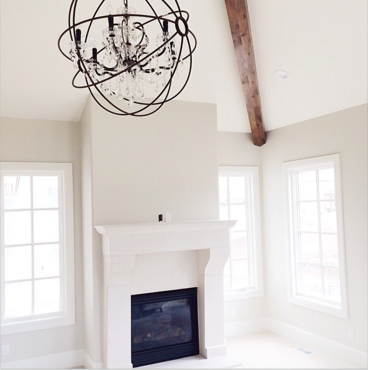 Dove White Trim And Ashwood For Walls Both By Benjamin Moore With Possible Great Room Color I Love The Beam