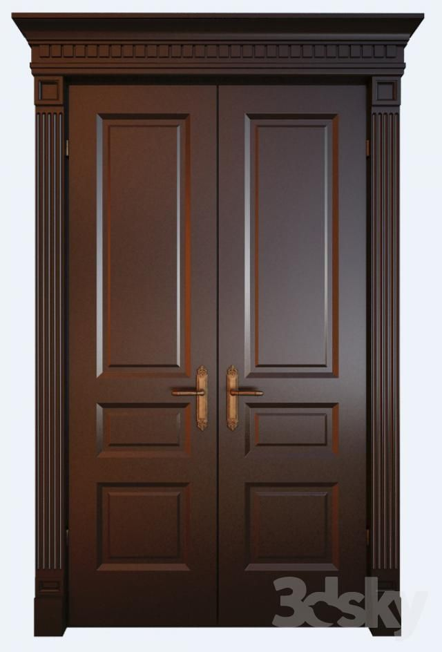 Pin By Kazuhiro On 3d Models With Images Double Door Design Wood Doors Interior Room Door Design