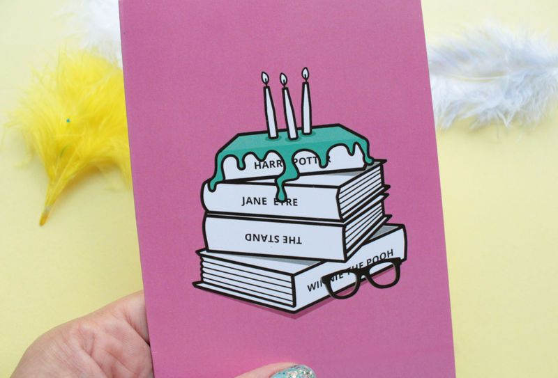 Book Lovers Birthday Card