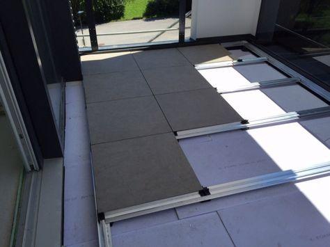 Talux profielsysteem voor het stabiel verwerken van tegels for Tegels voor dakterras