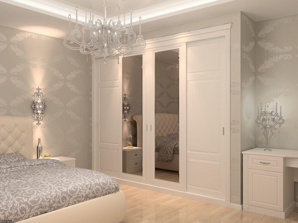 спальня классика 4431 шкаф купе встроенный на заказ выполнен