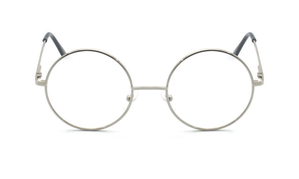 30b17373d04b Eye-Zoom Silver Metal Round Oval Reading Glasses Harry Potter John Lennon  Style