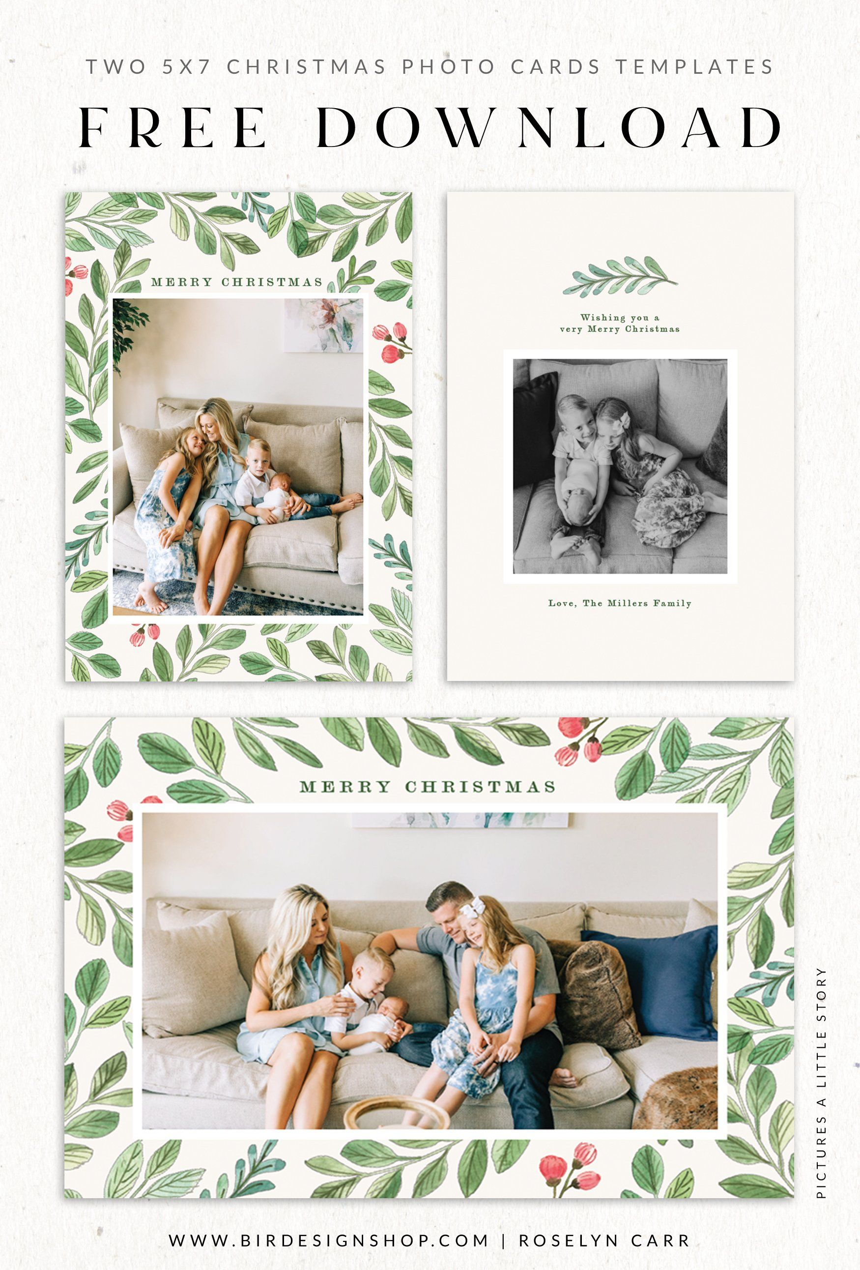 Free Floral Christmas Cards Free Christmas Photo Cards Christmas Cards Free Free Christmas Photo Card Templates