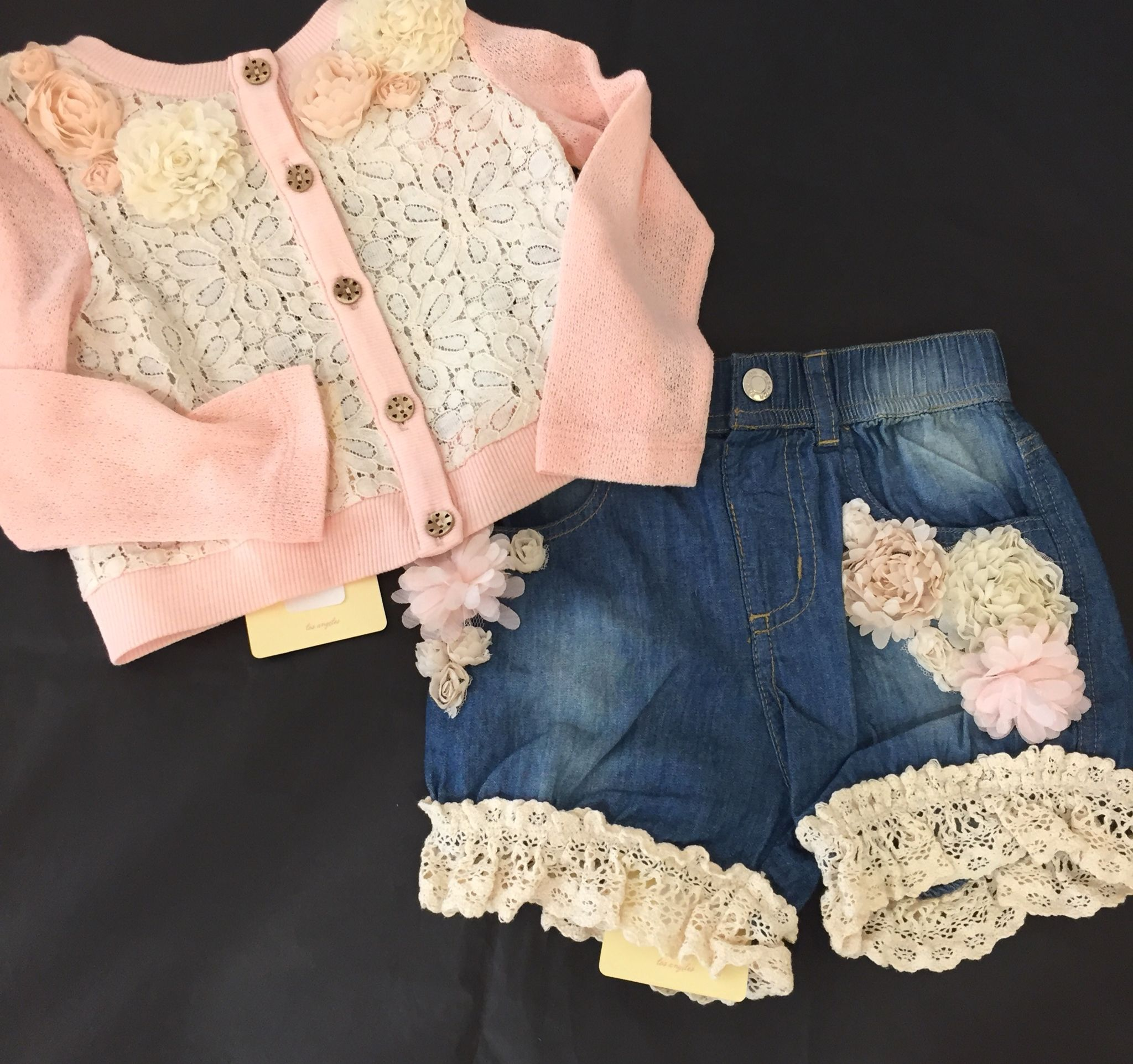 Forever obsessing over this Baby Sara outfit Cardigan $64 Shorts